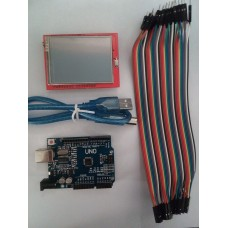 Arduino Uno + Display Touch 2.4 + Cable Dupont + Cable Usb