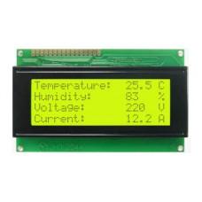 Pantalla LCD 20x4 Alfanumerica Fondo Verde