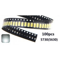 100 Led's SMD 5730 0.5W Ultrabrillante Blanco