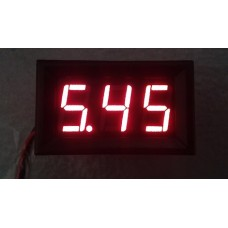 Voltimetro Display Digital 3.7-30V con Panel Rojo