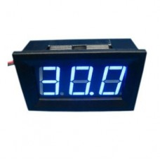 Voltimetro Display Digital Azul 5-30 V, para Auto, Moto Fuente